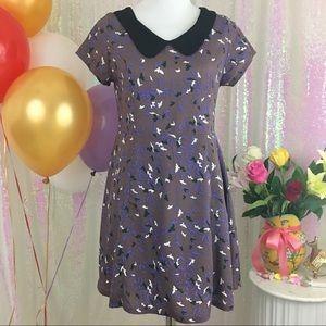 Audrey Dusky Purple Dress w. Collar